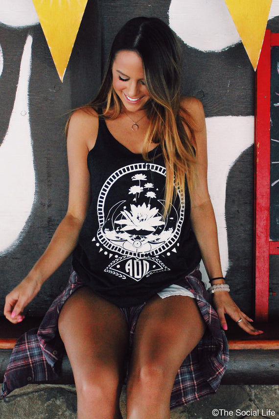 Alpha Omicron Pi Moonflower Tank