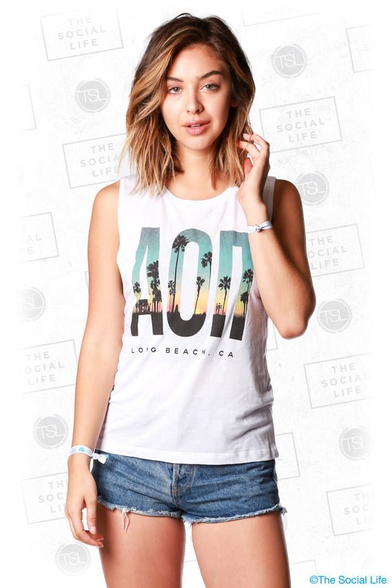 Alpha Omicron Pi Sunset Tank