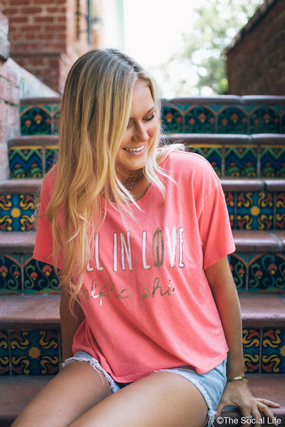 Alpha Phi Fall In Love Tee
