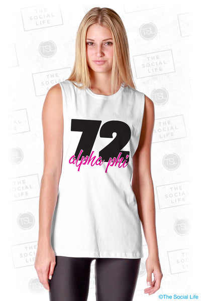 Alpha Phi 72 Muscle Tank