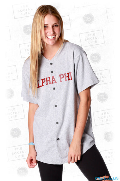 Alpha Phi Ivy League Baseball Jersey
