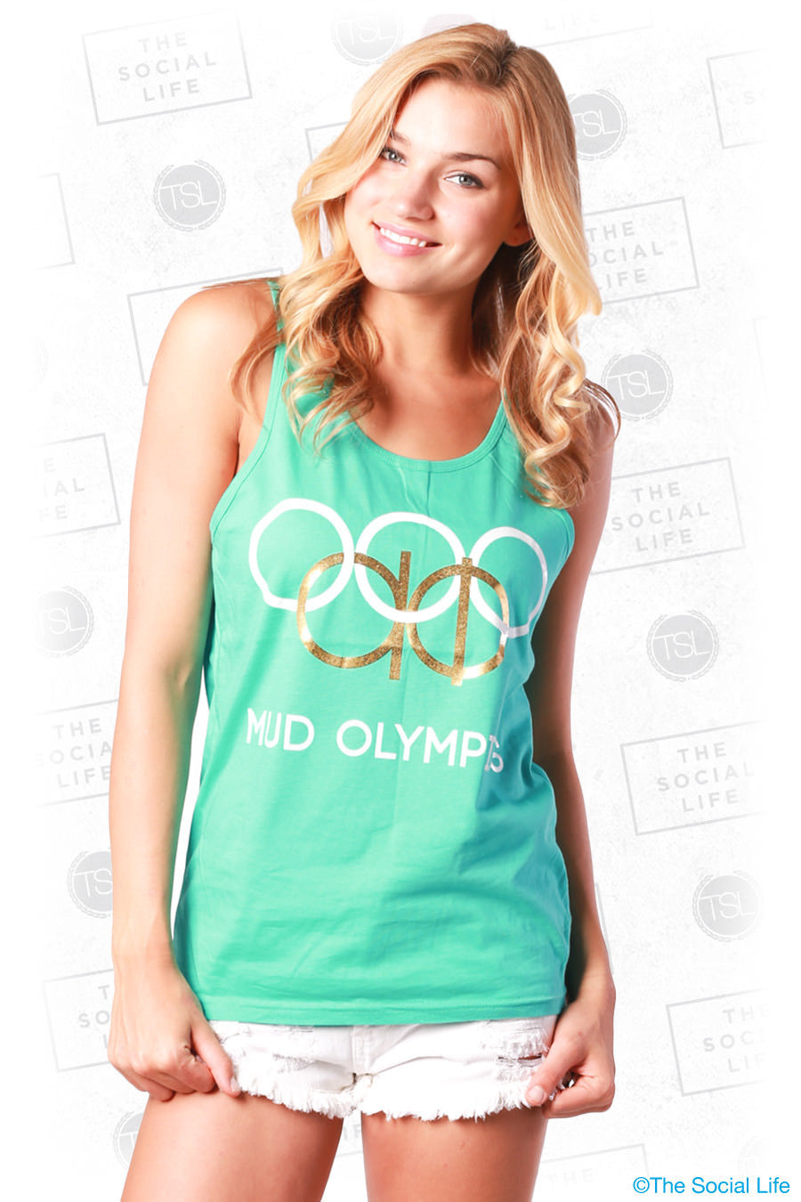 Alpha Phi Mud Olympics Tank – The Social Life | Premium Greek Apparel