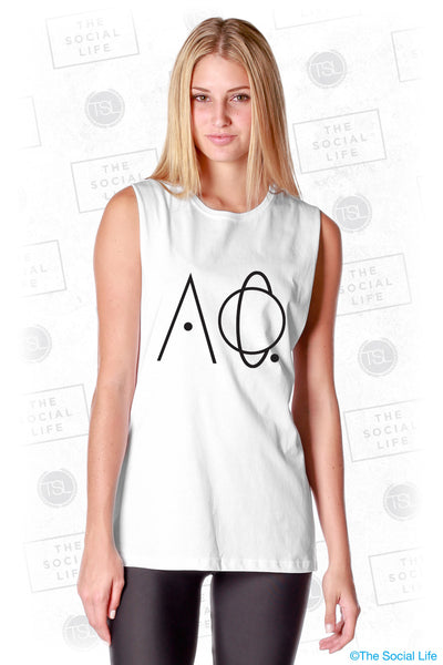 Alpha Phi Outer Space Letters Muscle Tank