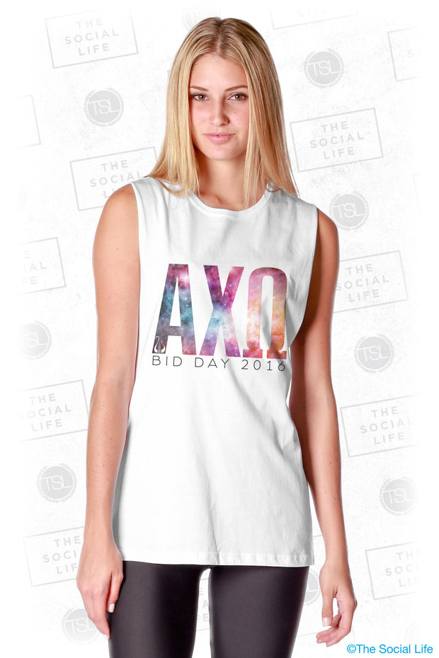 Alpha Chi Omega Galaxy Letters Tank