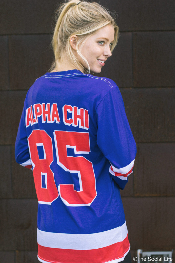 Alpha Chi Omega Hockey Long Sleeve