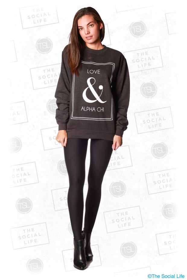Love and Alpha Chi Omega Sweatshirt