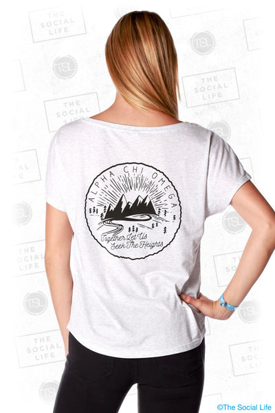 Alpha Chi Omega Seek the Heights Mountain Tee