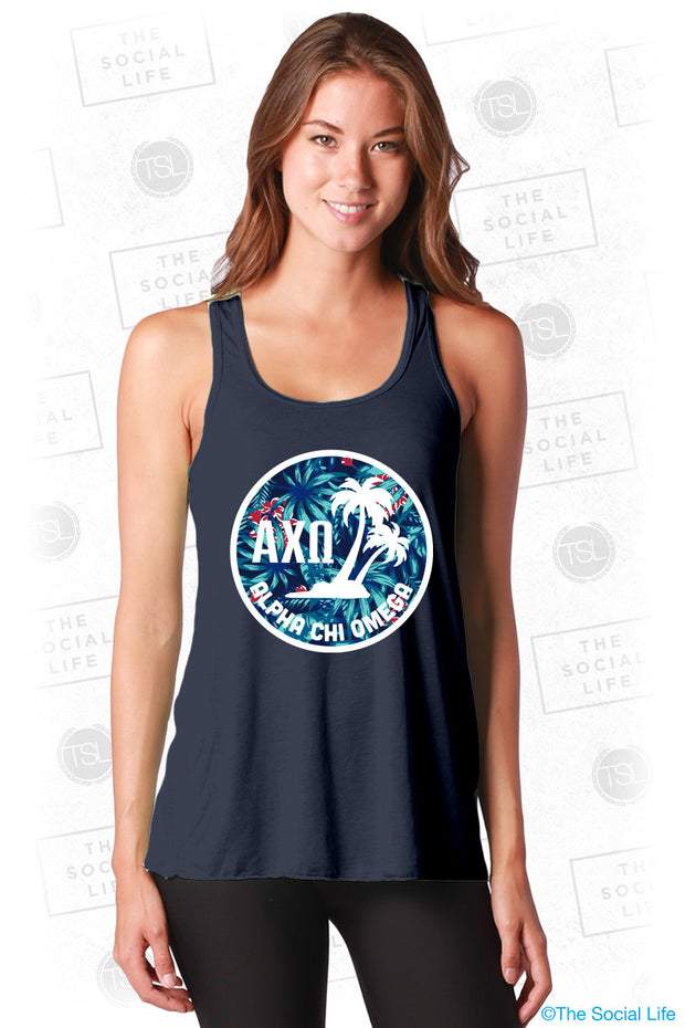 Alpha Chi Omega Tropical Palms Tank