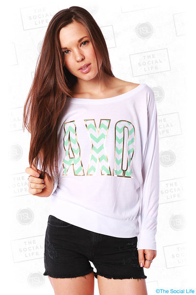 Chevron Letter Long Sleeve