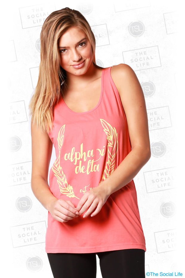 Alpha Xi Delta Feather Tank