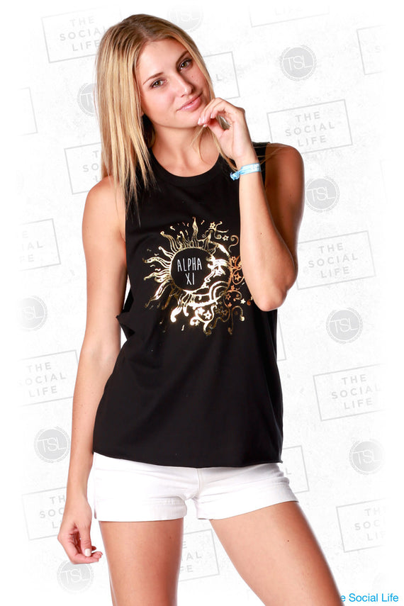 Alpha Xi Delta Sun and Moon Foil Tank