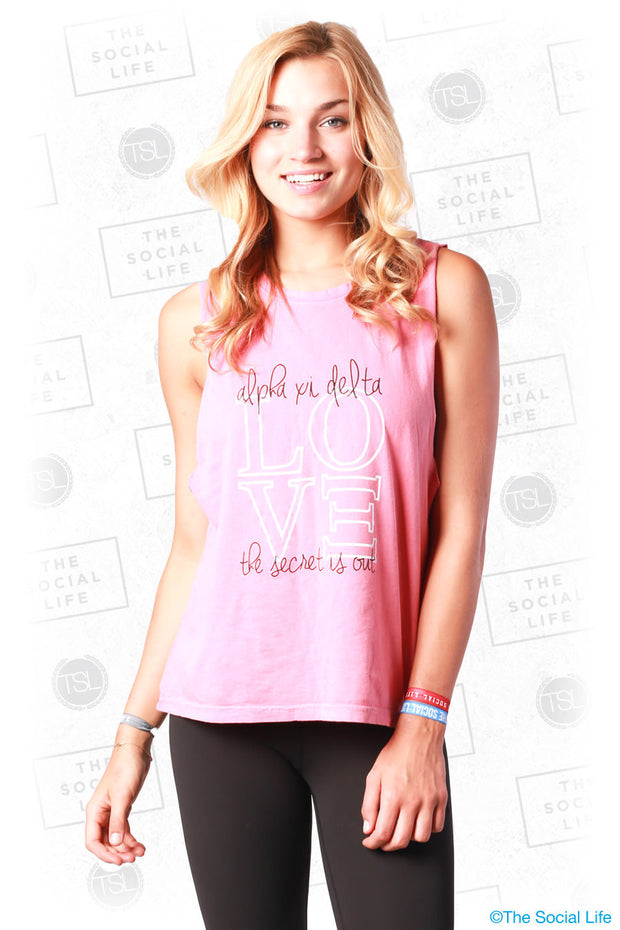 AXiD The Secret Is Out Muscle Tank