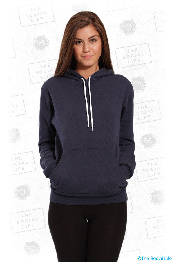 POLY-COTTON FLEECE PULLOVER HOODIE