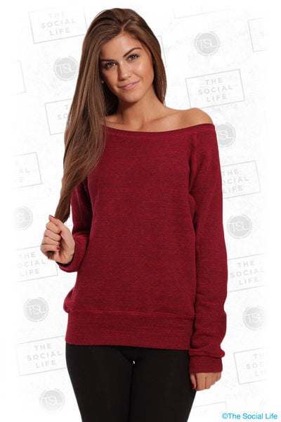 WIDE NECK SWEATSHIRT