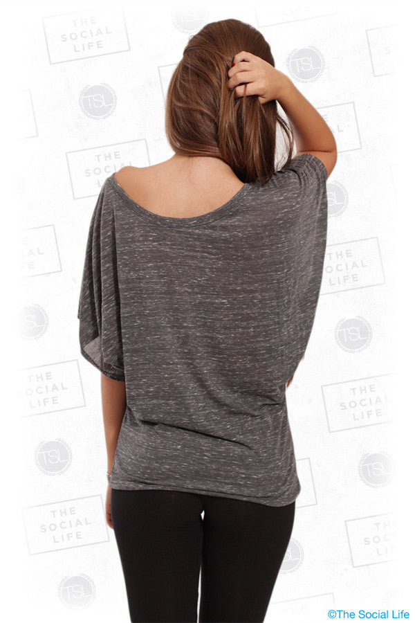 FLOWY DRAPED SLEEVE DOLMAN