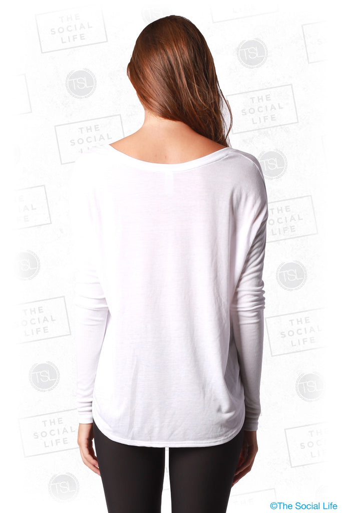 Flowy Long Sleeve 2x1 Rib Sleeves