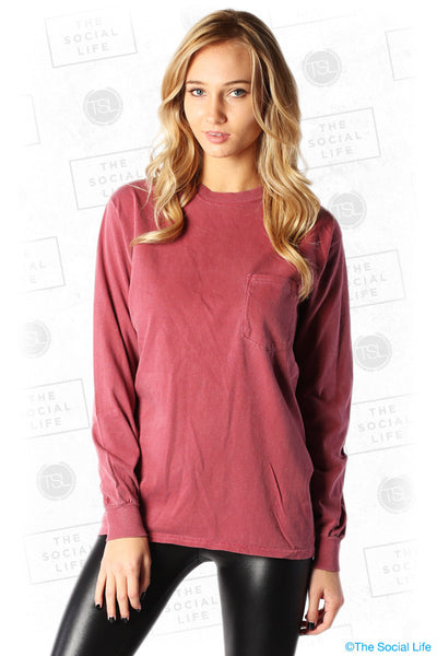 Heavyweight Long-Sleeve Pocket Tee