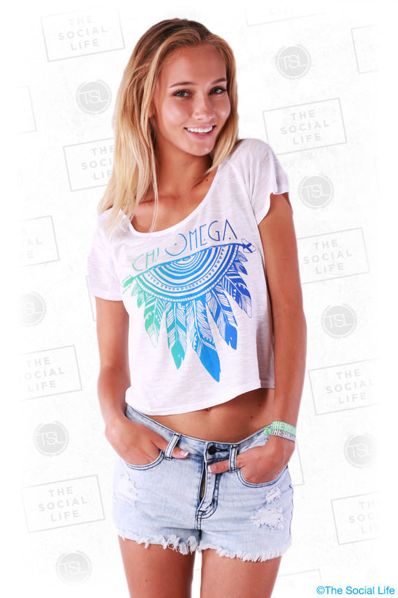 Neon Dreamcatcher Crop Tee