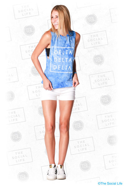 Delta Delta Delta Dyed Muscle Tank