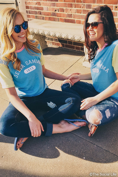 Delta Gamma Color Block Tee