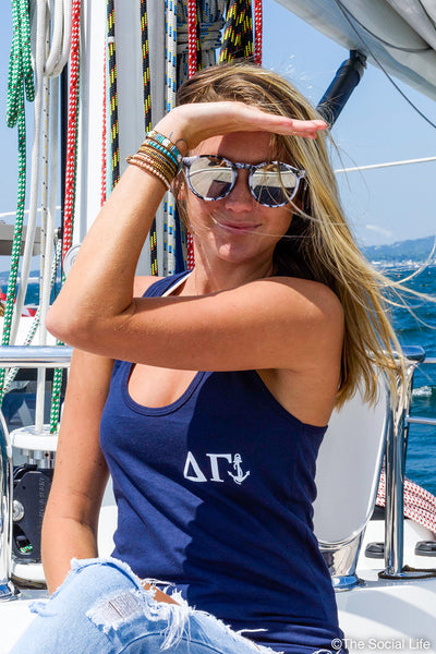 Delta Gamma Simple Letters & Anchor Tank