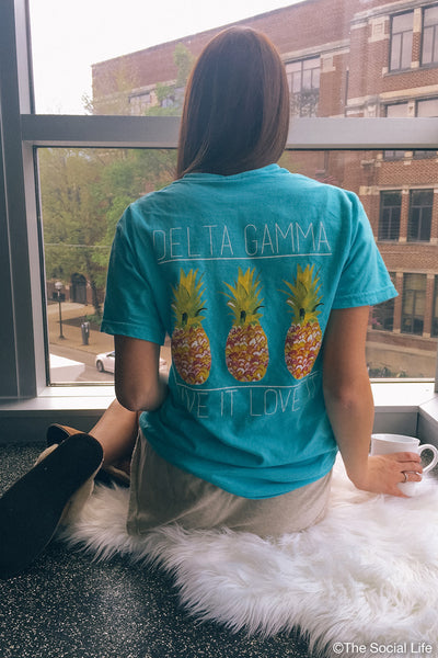 Delta Gamma Pineapple Pocket Tee