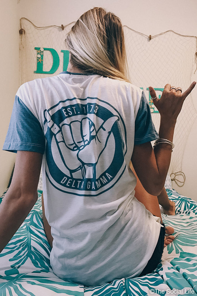 Delta Gamma Hang Loose Scoop Tee