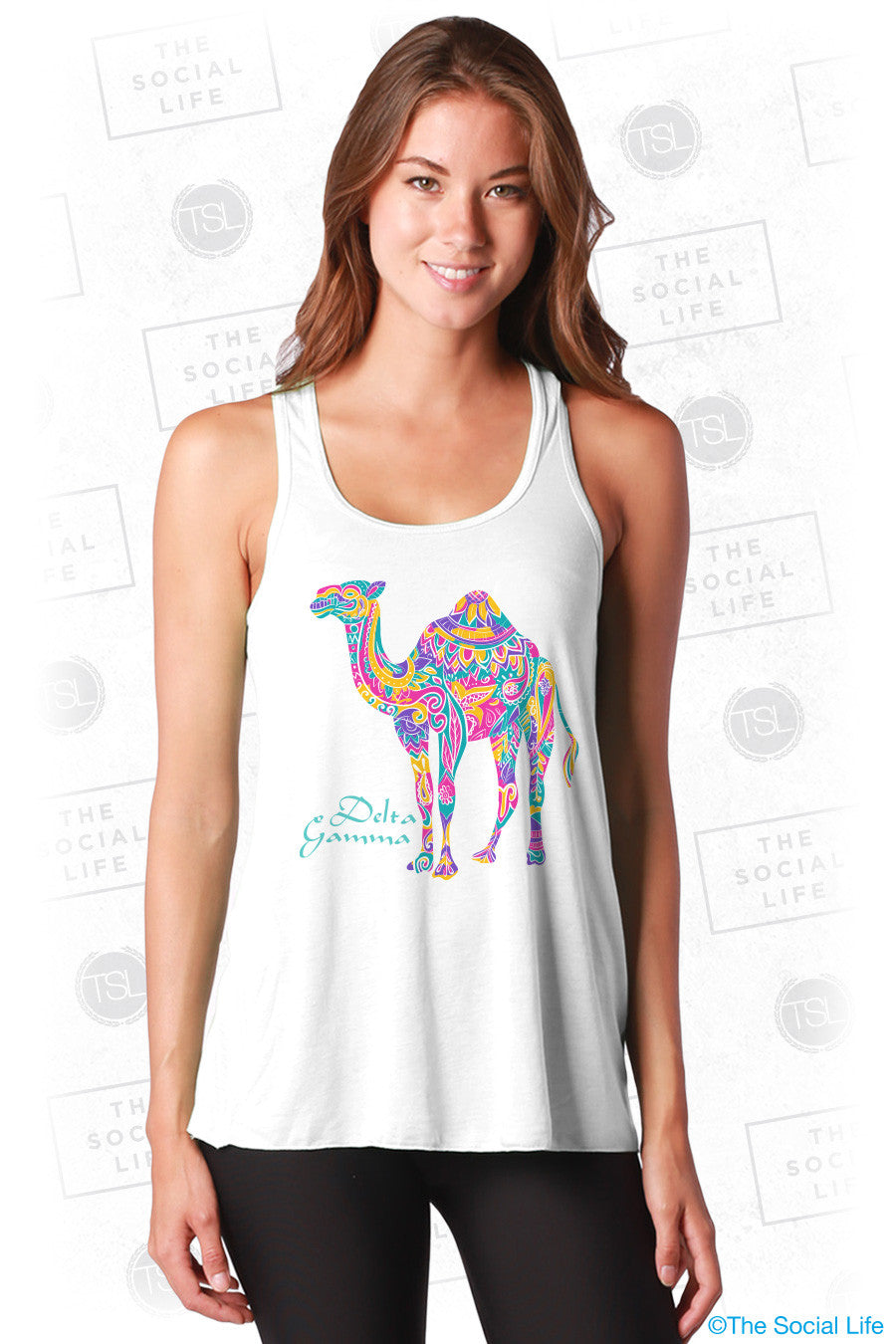 Delta Gamma Colorful Camel Tank