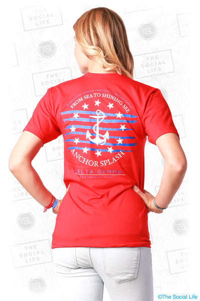 Stars and Stripes Anchor Splash Tee