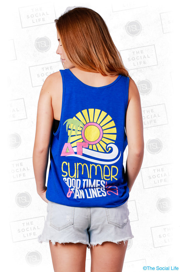 DG Summer, Good Times, and Tanlines Tank