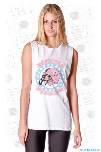 Delta Gamma Football Muscle Tank