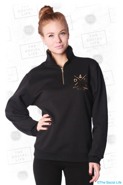 Foil Quarter Zip Sweatshirt