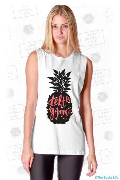 Delta Gamma Pineapple Muscle Tank