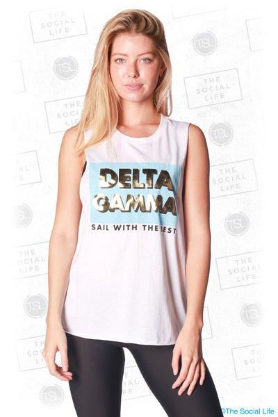 Delta Gamma Sail with the Best Muscle Tank