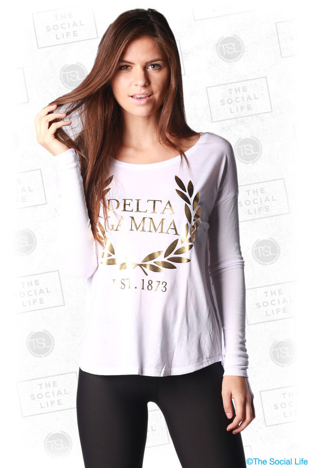 Foil Wreath Long Sleeve