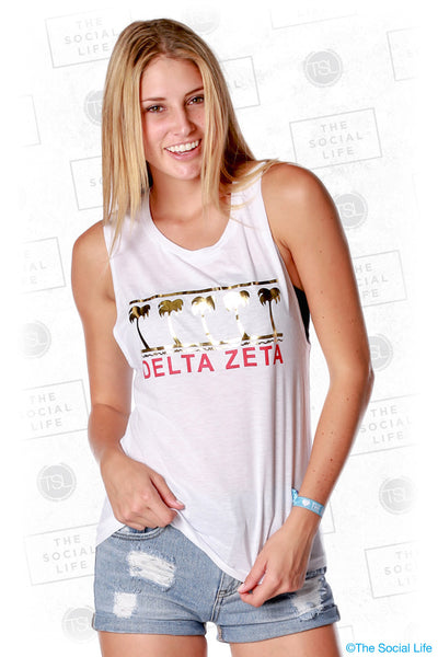 Delta Zeta Golden Palms Muscle Tank