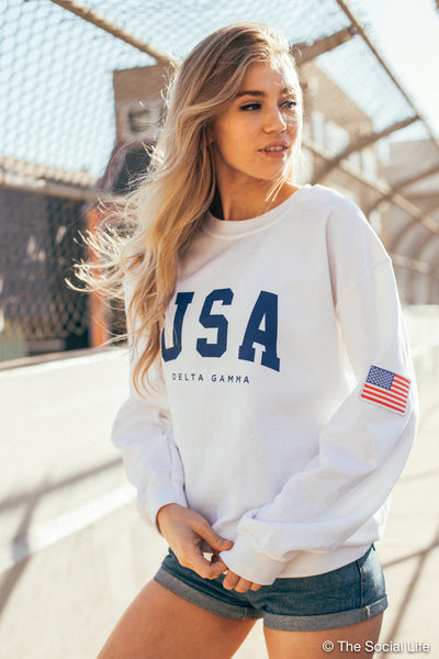 Flag Crewneck Sweatshirt