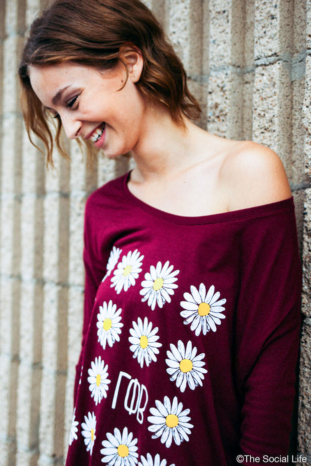 Gamma Phi Beta Daisies Long Sleeve