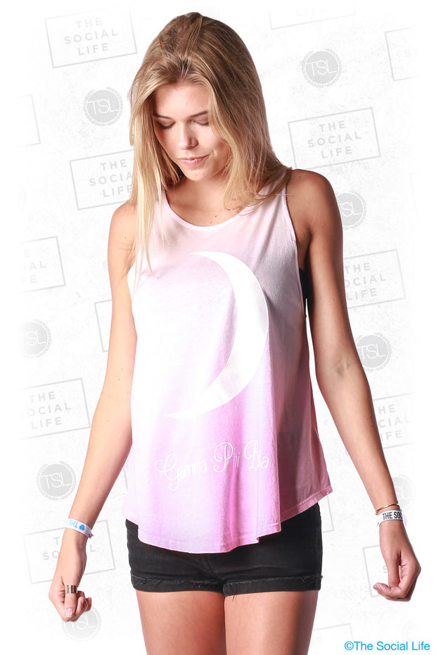 Gamma Phi Ombre Crescent High Neck Tank