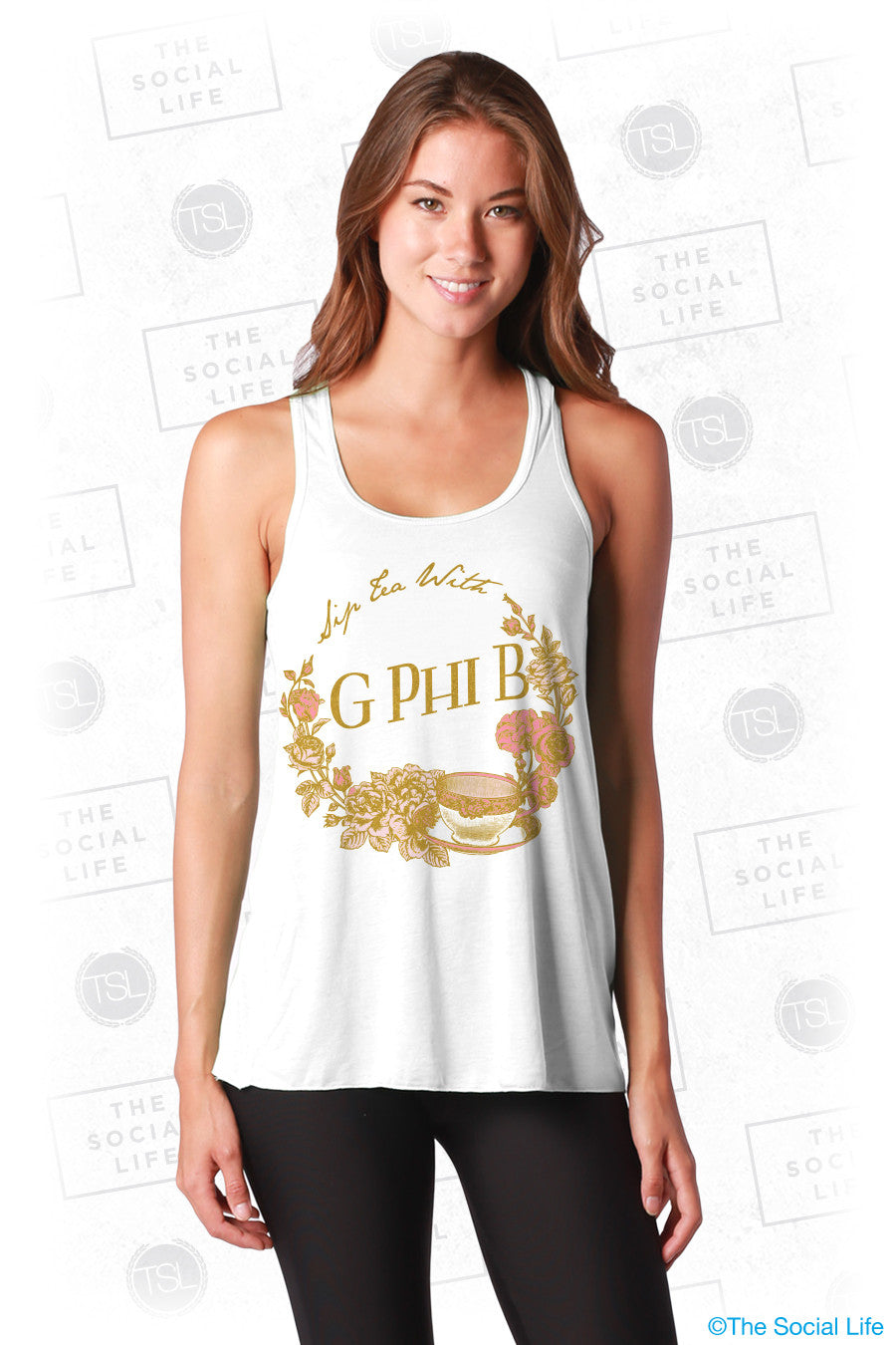 Gamma Phi Beta Tea Party Tank