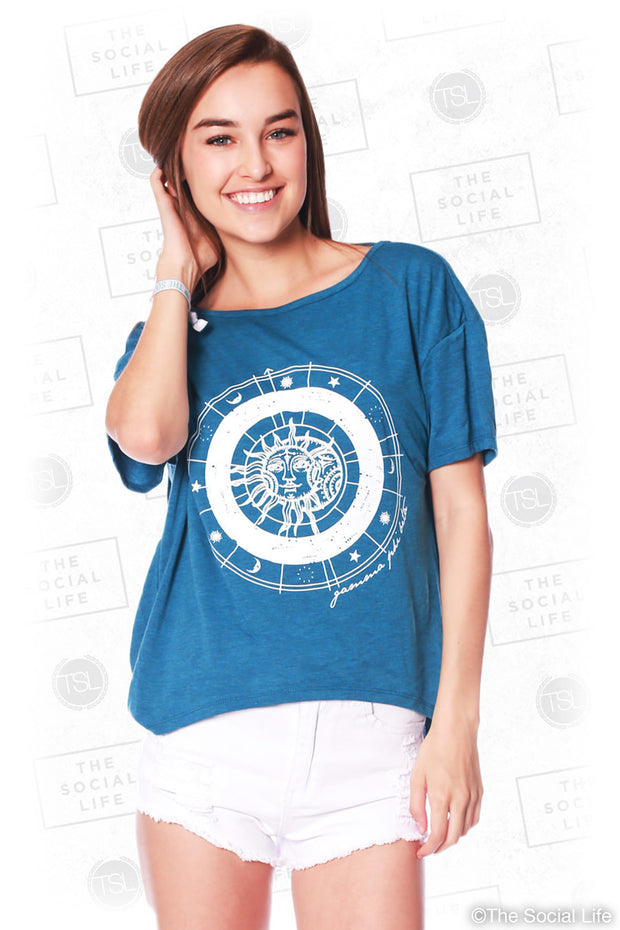 Pi Phi Sun and Moon Tee