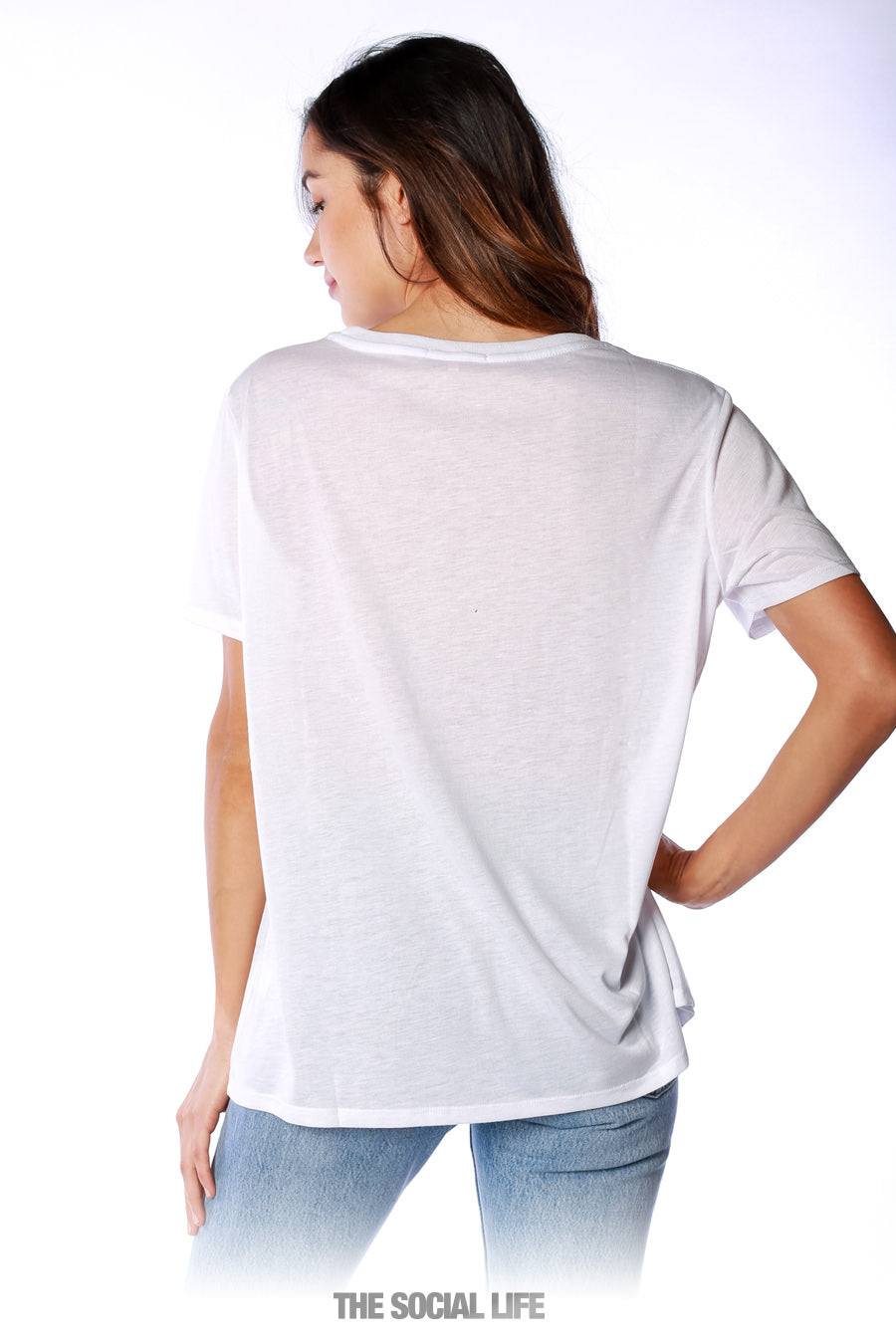 Relaxed Scoop Neck Tee