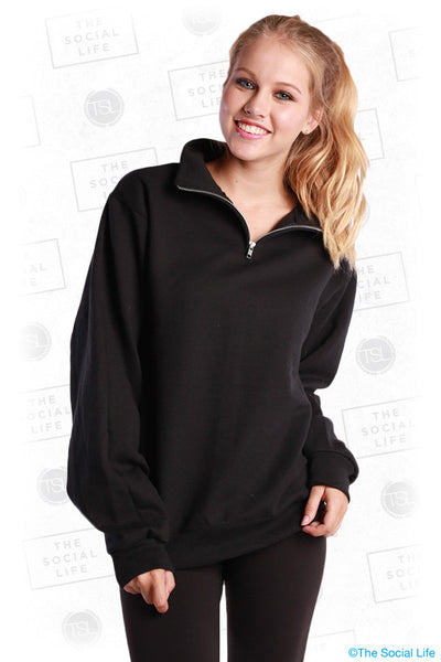 1/4-Zip Cadet Collar Sweatshirt