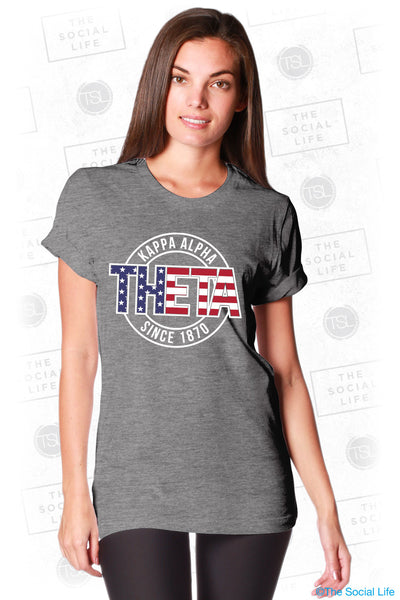 Kappa Alpha Theta Stars and Stripes Stamp Tee