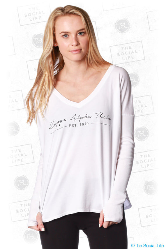 Kappa Alpha Theta Simple Longsleeve