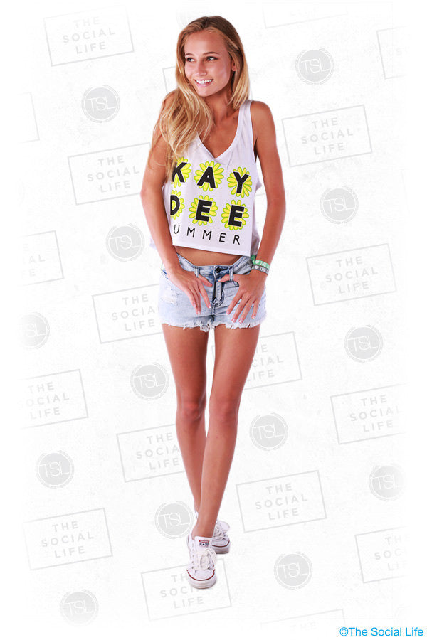 Daisy Summer Crop Tank