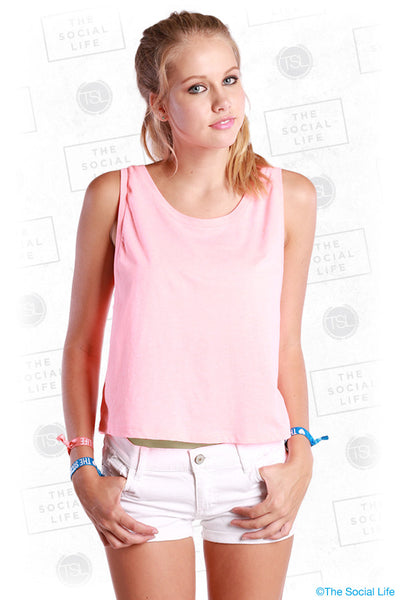Scoop Neck Boxy Crop Tank