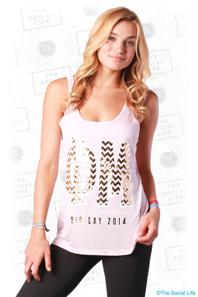 Phi Mu Gold Foil Bid Day Tank