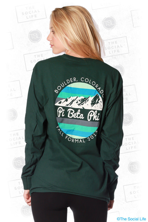 Pi Phi Formal Mountain Longsleeve