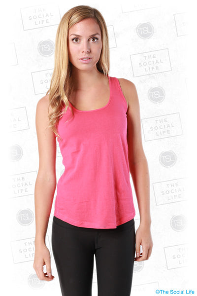 Scoop Neck Curve Hem Tank